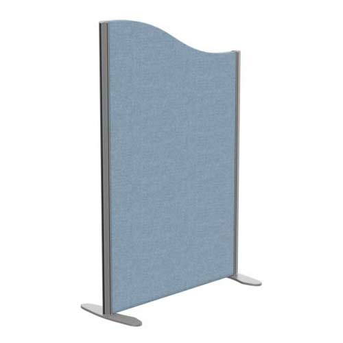 Sprint Eco Freestanding Screen Wave Top W800xH1200-1000mm Light Blue - With Stabilising Feet