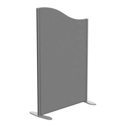 Sprint Eco Freestanding Screen Wave Top W800xH1200-1000mm Grey - With Stabilising Feet