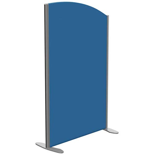 Sprint Eco Freestanding Privacy Acoustic Screen Curved Top W800xH1300-1100mm Blue - With Stabilising Feet