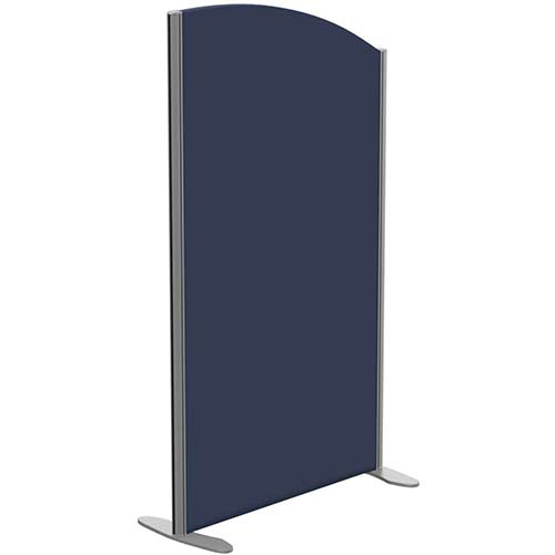 Sprint Eco Freestanding Screen Curved Top W800xH1400-1200mm Dark Blue - With Stabilising Feet