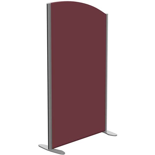 Sprint Eco Freestanding Screen Curved Top W800xH1400-1200mm Wine - With Stabilising Feet