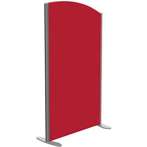 Sprint Eco Freestanding Screen Curved Top W800xH1400-1200mm Red - With Stabilising Feet