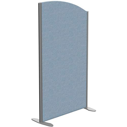 Sprint Eco Freestanding Screen Curved Top W800xH1400-1200mm Light Blue - With Stabilising Feet
