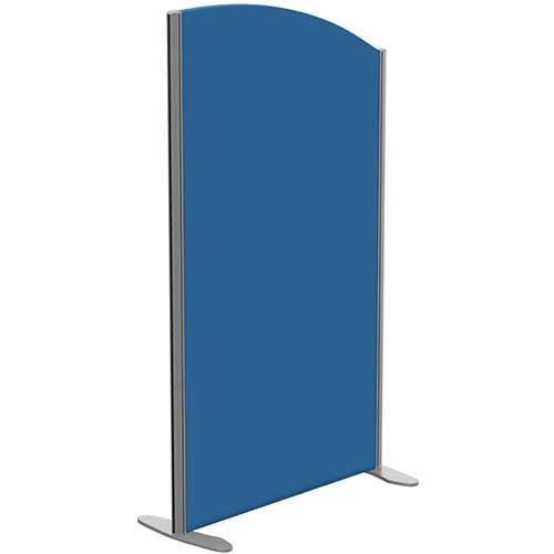 Sprint Eco Freestanding Screen Curved Top W800xH1400-1200mm Blue - With Stabilising Feet