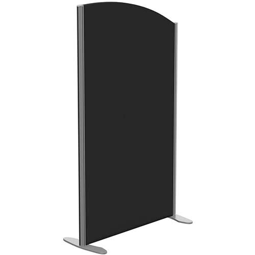 Sprint Eco Freestanding Screen Curved Top W800xH1400-1200mm Black - With Stabilising Feet