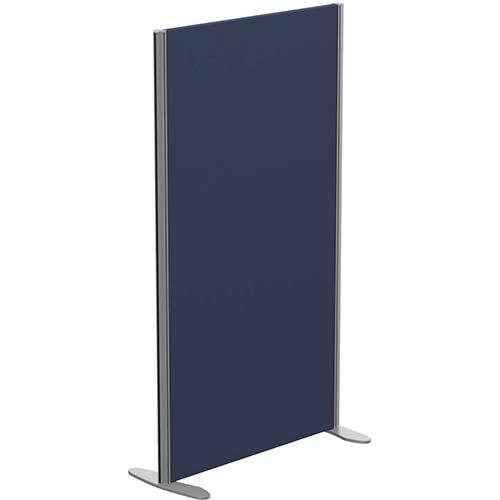 Sprint Eco Freestanding Screen Straight Top W800xH1400mm Dark Blue - With Stabilising Feet