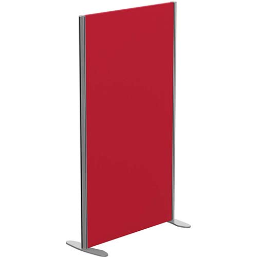 Sprint Eco Freestanding Screen Straight Top W800xH1400mm Red - With Stabilising Feet