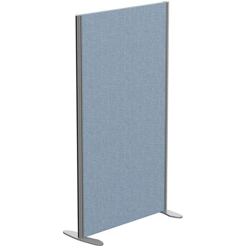 Sprint Eco Freestanding Screen Straight Top W800xH1400mm Light Blue - With Stabilising Feet