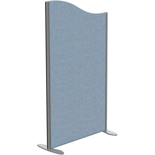 Sprint Eco Freestanding Screen Wave Top W800xH1400-1200mm Light Blue - With Stabilising Feet