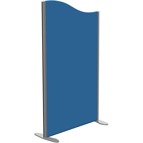Sprint Eco Freestanding Screen Wave Top W800xH1400-1200mm Blue - With Stabilising Feet