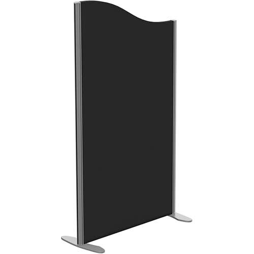 Sprint Eco Freestanding Screen Wave Top W800xH1400-1200mm Black - With Stabilising Feet