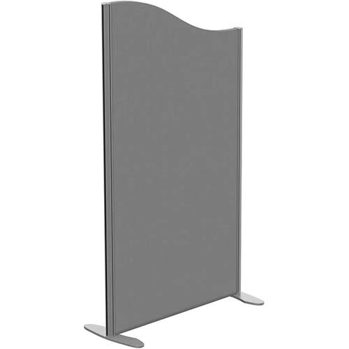 Sprint Eco Freestanding Screen Wave Top W800xH1400-1200mm Grey - With Stabilising Feet