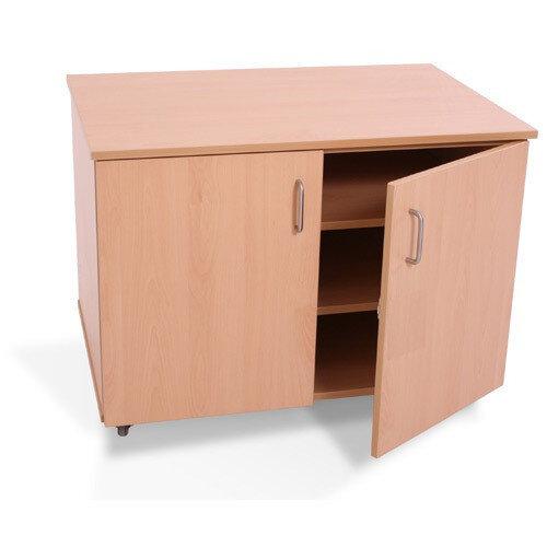 Beech Mobile Storage Cupboard
