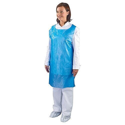 Shield Blue Disposable Aprons in Dispenser [Pack of 1000] A2/B