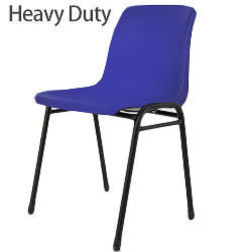 Heavy Duty Secondary School &College Poly Stacking Chair Blue