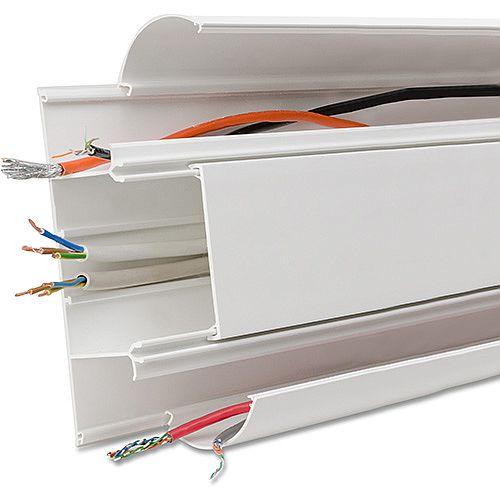 3 Comp Dado Trunking - White