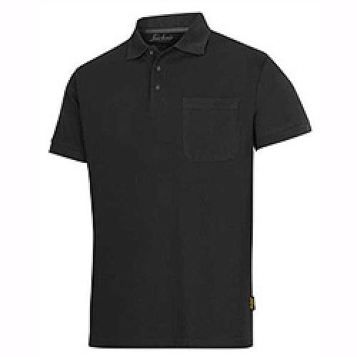 Snickers Classic Polo Shirt Black Size: M