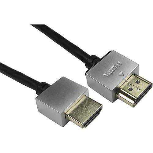 2.0m Black Super Soft Slim HDMI Cable SSSHDMI2M-B