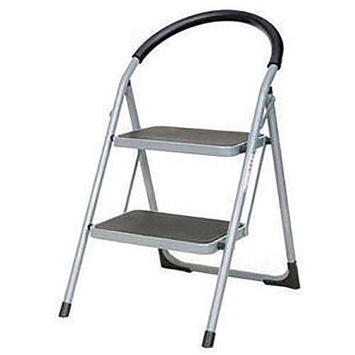 Step Ladder Folding Step Stool 2 Tread White Height 0.49m 359293