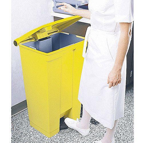 Rubbermaid Step-On Bin Clinical Waste Bin 30.5 Litre 415x400x435mm Yellow 313503