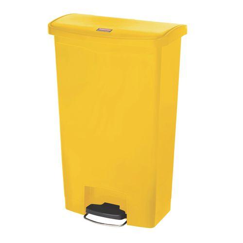 Step-On Bin 45.5 Litre 415x400x600mm Yellow 324305
