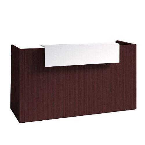 SOVE Minimalist Design Reception Desk W1900mm Dark Walnut With White Counter Top