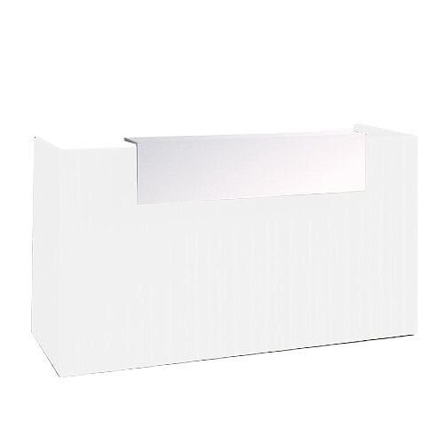 SOVE Minimalist Design Reception Desk W1900mm White With White Counter Top