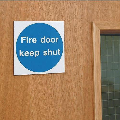 Aluminium Fire Door Keep Shut Sign