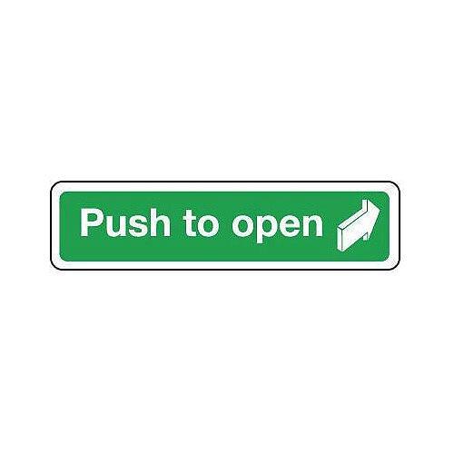 Aluminium Push To Open Sign