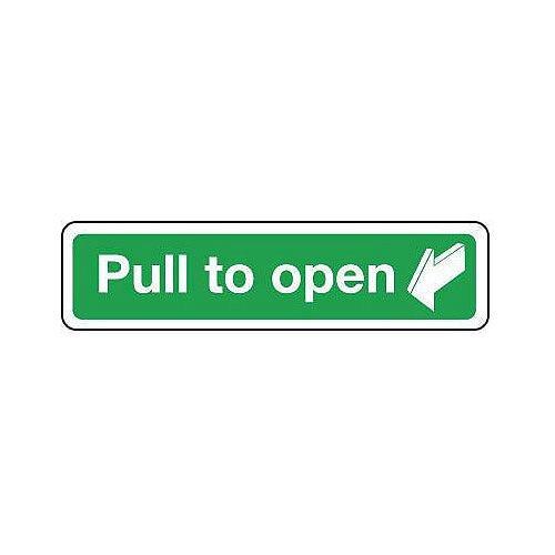 Aluminium Pull To Open Sign