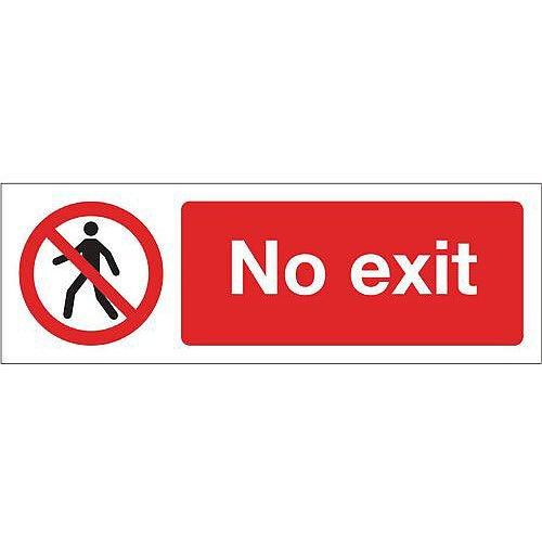 Aluminium General Prohibition Sign No Exit