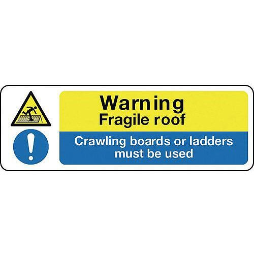 Sign Warning Fragile Roof 450X600 Aluminium