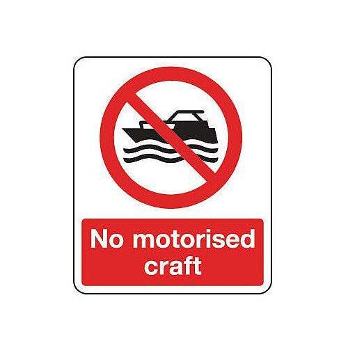 Aluminium National Water Safety Sign No Motorised Craft