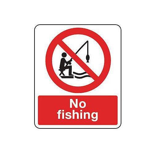Aluminium National Water Safety Sign No Fishing