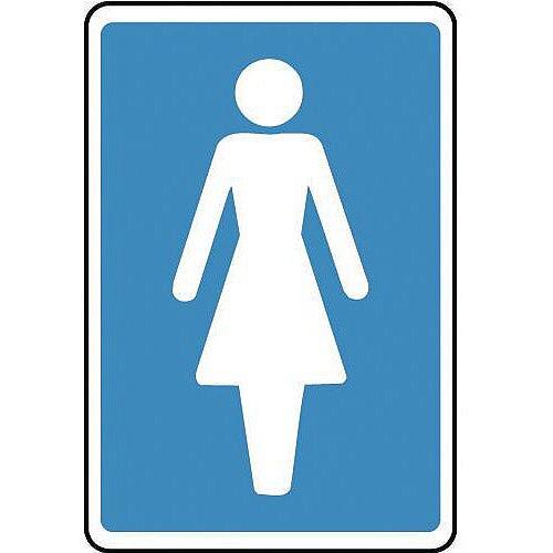Sign Ladies 150X100 Aluminium