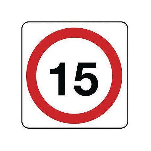 Aluminium General Traffic Sign 15 Mph