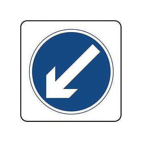 Aluminium General Traffic Sign Arrow Down Left