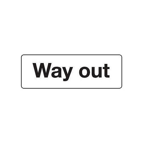 General Signage Way Out Hxw 200X600mm