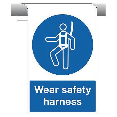 Sign Wear Safety Harness 450X600 Aluminium