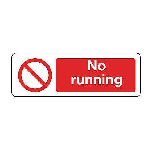 Aluminium General Prohibition Sign No Running Landscape