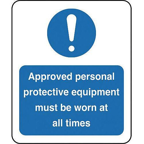 Sign Approved Personal 250X300 Aluminium
