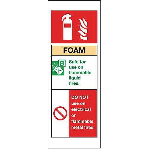 Aluminium Fire Extinguisher Sign Foam