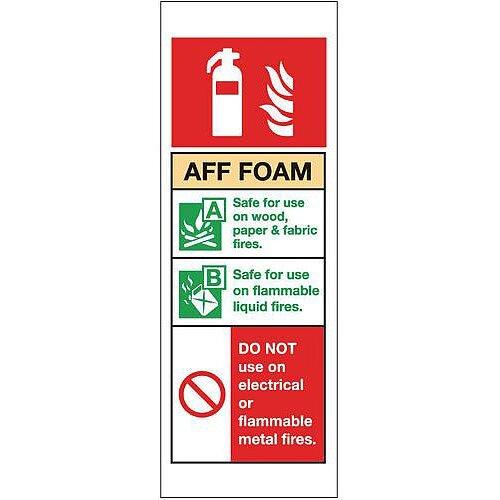 Aluminium Fire Extinguisher Sign Aff Foam