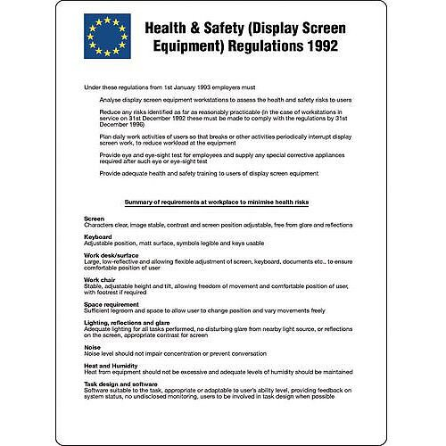 Health And Safety Display Screen Equipment Poster