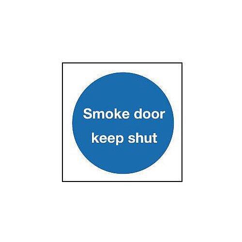 Aluminium Smoke Door Keep Shut Sign