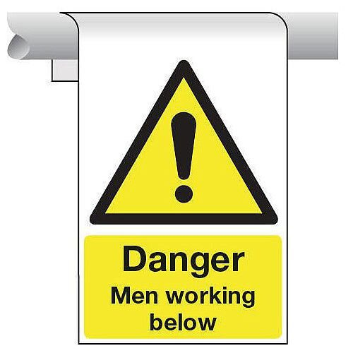 Sign Danger Men Working Below 450X600 Aluminium