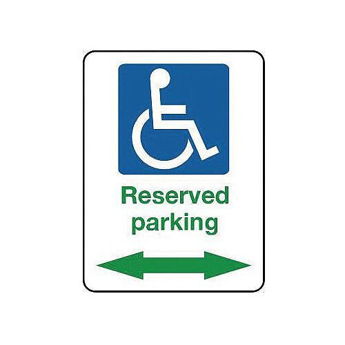 Aluminium Reserved Disabled Parking Arrow Left Right