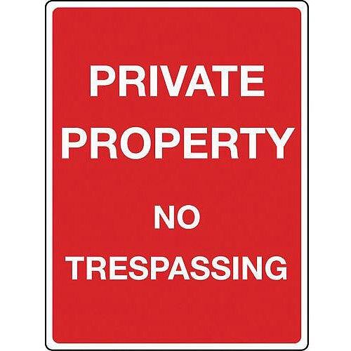 Sign Private Property Aluminium 300X400
