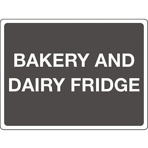 Aluminium Colour Co-Ordinated Chopping Board &Storage Sign Bakery And Dairy Fridge