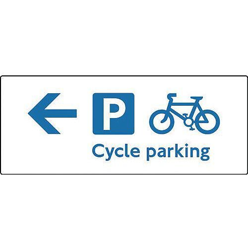 Aluminium Cycling Activities Sign- Cycles May Be Left Here